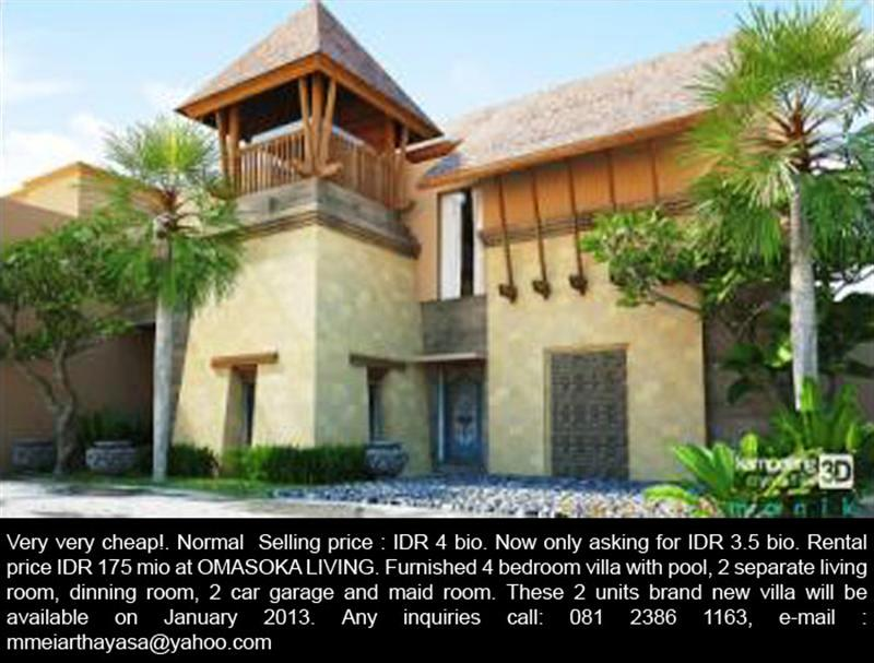 R1092 Jual Rumah Elit  Style Villa Lokasi Denpasar bali