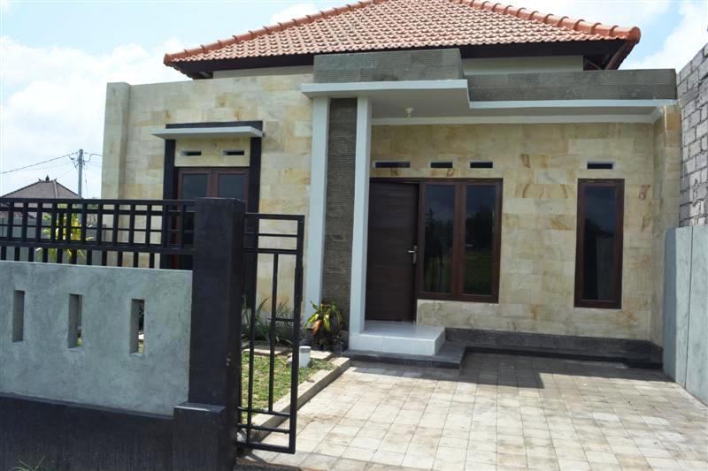 property dijual rumah murah desain minimalis view sawah